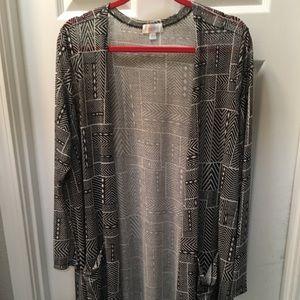 Lularoe Sarah XL black and white pattern